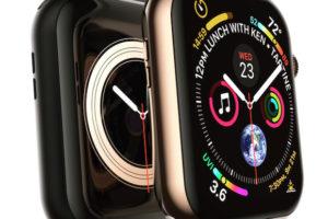 「Apple Watch Series 4」のブラックモデルを描いたイメージ画像