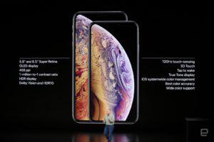 速報:iPhone XSとXS Max発表。5.8型と6.5型OLED版モデルは処理速度と防水性能向上
