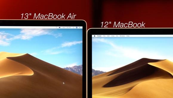 新型MacBook Airと12インチのMacBookを比べてみる
