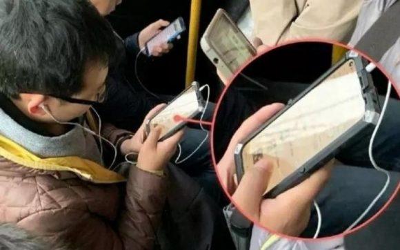 こんなデザイン見たことない!地下鉄で目撃されたのはHuaweiの次世代スマホか