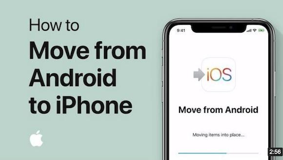 Apple、AndroidからiPhoneへの移行方法を解説した動画を公開