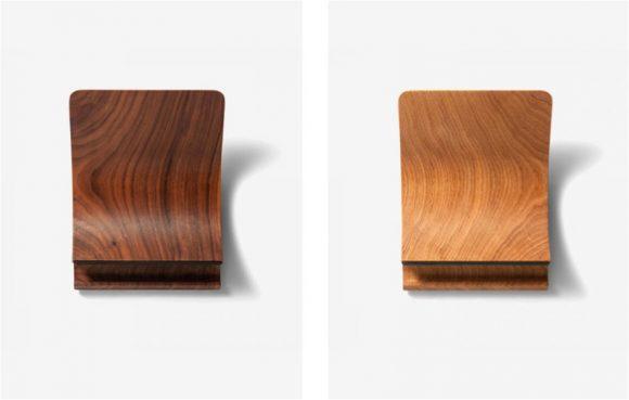 Apple製品マニアの建築デザイナーが考えた、MacBook専用の木製スタンド登場